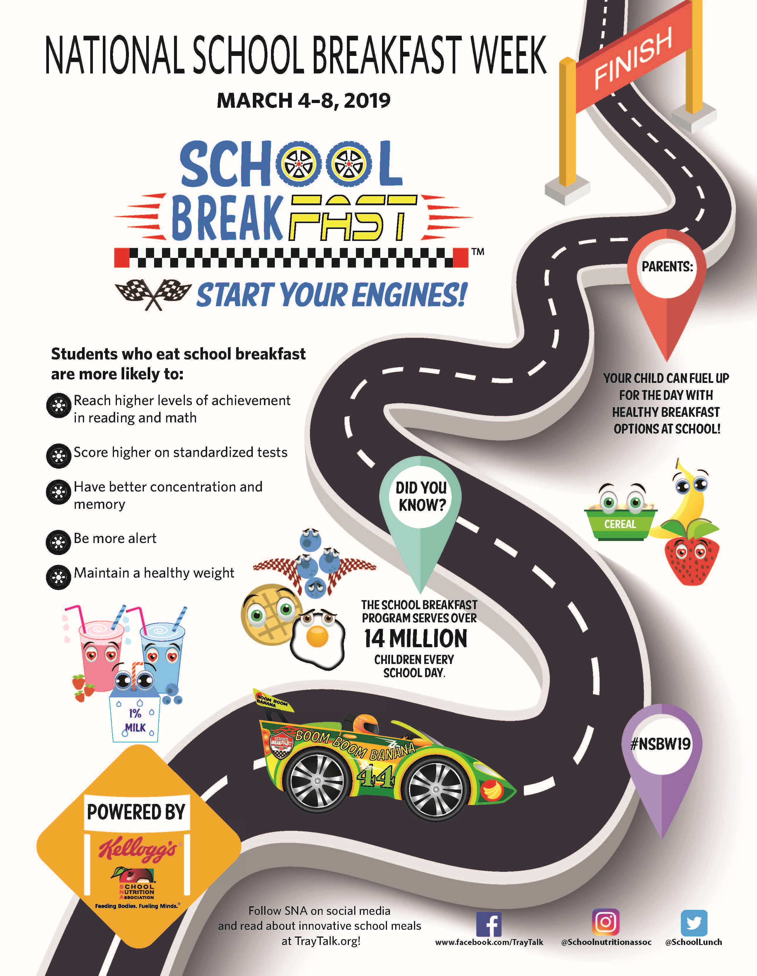 National School Breakfast Week 2019 infographic